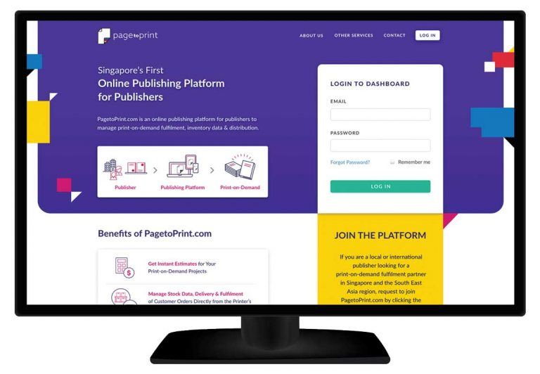 Page to Print Book Publishing Portal Singapore